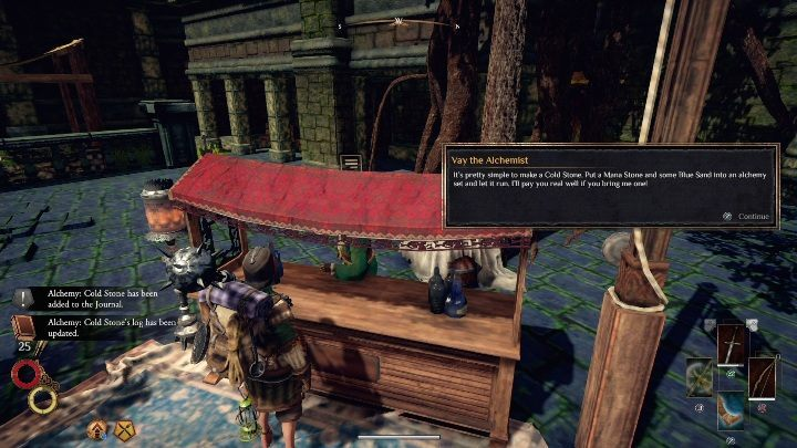 The alchemist from Berg will ask you for a Cold Stone - Berg Side quests - Outward Walkthrough - Side quests - Outward Guide