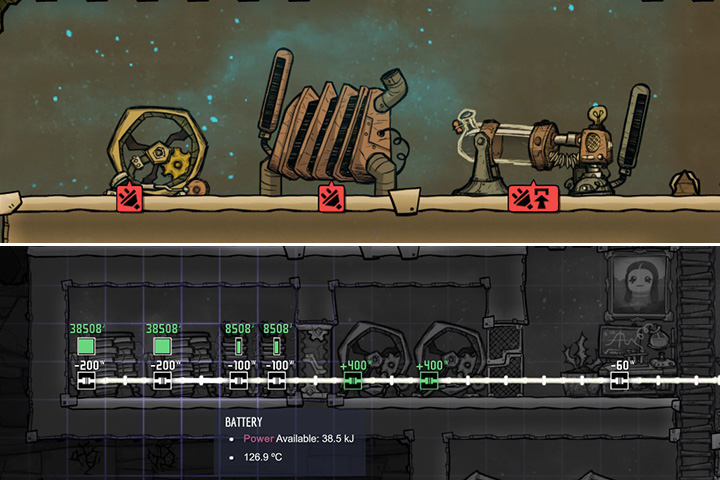 Power in Oxygen Not Included - Oxygen Not Included Game