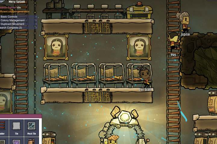 Base layout and gas flow in Oxygen Not Included - Oxygen Not