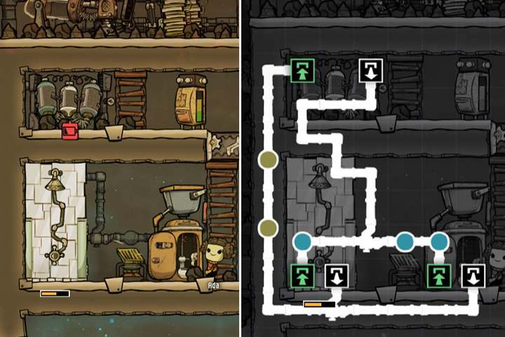 Shower/lavatory + water purifier (closed circulation) - Special Rooms - Base Layout - Oxygen Not Included Game Guide
