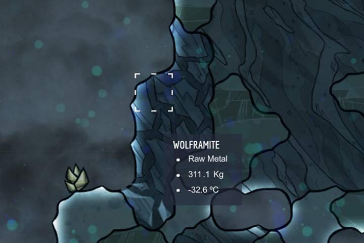 Wolframite - The material is very resistant to high temperatures - Minerals, rocks and metals | Resources - Resources - Oxygen Not Included Game Guide