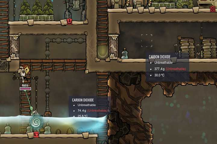 Carbon Dioxide - Gases | Resources - Resources - Oxygen Not Included Game Guide