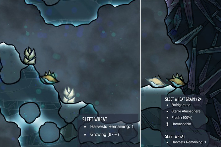 Sleet Wheat - Harvestable - Plants - Oxygen Not Included Game Guide