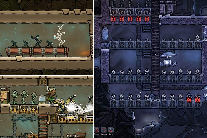 To create the perfect conditions for your plants to grow, you will often need a lot of work and some additional facilities, such as irrigation and air conditioning. - Agriculture and food - The Beginning - Oxygen Not Included Game Guide