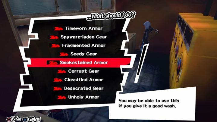 The best armors can be obtained in the laundry - Best gear in Persona 5 - FAQ - Persona 5 Game Guide