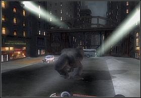 In order to move further, you must go under the bridge, but unfortunately theres a bus there - In The Streets Of New York - Walkthrough - Peter Jacksons King Kong - Game Guide and Walkthrough