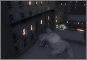To get to the third one, jump above the street from the place, where you have destroyed the second reflector (picture on the left) - In The Streets Of New York - Walkthrough - Peter Jacksons King Kong - Game Guide and Walkthrough