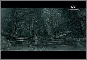 By following the road (next tunnel in the mountain), you'll approach a large room with multiple constructions on the walls - with statues - (estimating, it's a tomb) - Necropolis - Walkthrough - Peter Jacksons King Kong - Game Guide and Walkthrough