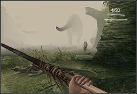 When you find the dead body of first dinosaur, youll be attacked by the bigger one - Brontosaurus - Walkthrough - Peter Jacksons King Kong - Game Guide and Walkthrough