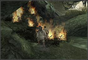 To do that, head up and set the shrubbery on fire (but be aware of attacking natives - you can hide squatting behind small rock) - Jimmy - Walkthrough - Peter Jacksons King Kong - Game Guide and Walkthrough