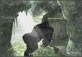 Jump from the wall on the next edge after a while, and from there on lichens - Fight - Walkthrough - Peter Jacksons King Kong - Game Guide and Walkthrough