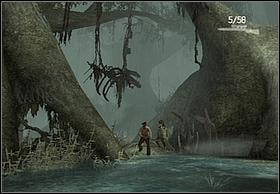 youll reach the bigger reservoir one hell of a fight will start (many lizards attacking from different sides) - Swamps - Walkthrough - Peter Jacksons King Kong - Game Guide and Walkthrough