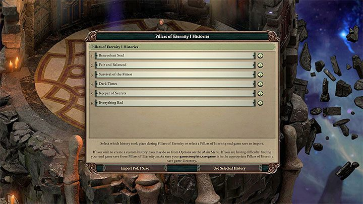 Pillars of Eternity 2: Deadfire allows you to import your choices from the first installment and its White March mission packs - Starting tips for Pillars of Eternity 2 - Basics - Pillars Of Eternity 2 Deadfire Game Guide