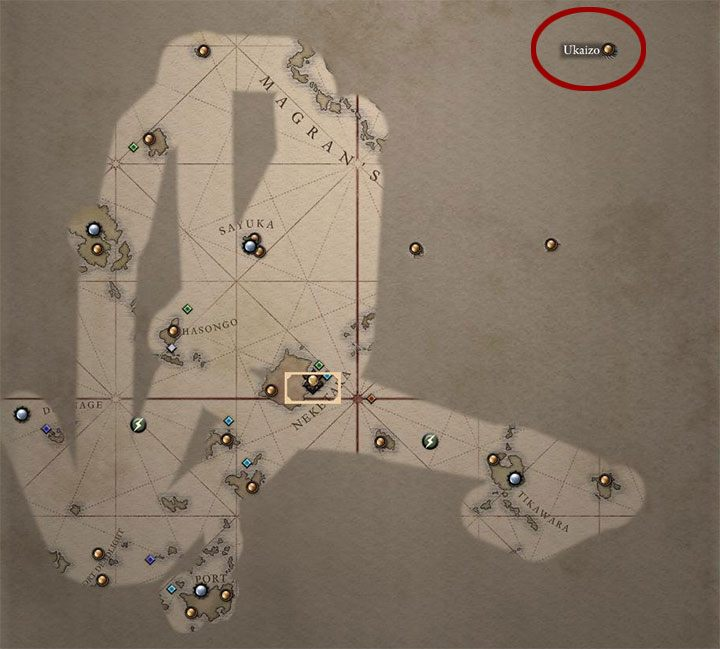 The game adds the location of Ukaizo to the world map - Variant 5 - Cooperation with Huana faction | Solution - The Coming Storm - journey to the final location - Pillars Of Eternity 2 Deadfire Game Guide
