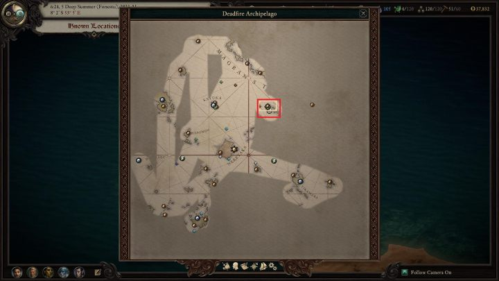 First things first, you need to go to Bekarnas Observatory (M42) - she can be found on an island located to the north-east of Nekataka Island (the island can be seen in the above screenshot - market in red) - Bekarnas Folly - side quest - Side quests - Pillars Of Eternity 2 Deadfire Game Guide