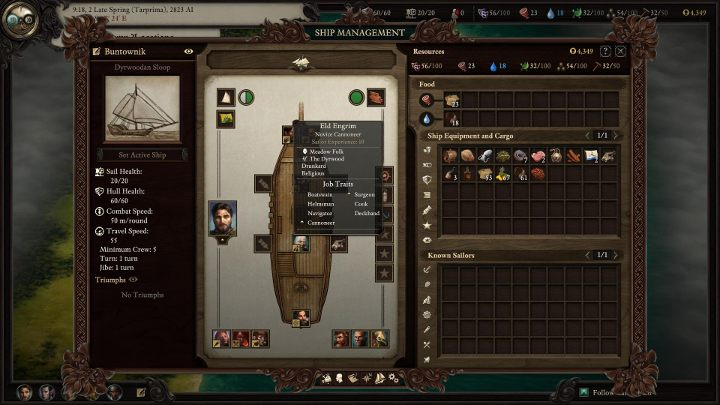 In the description of the sailor in you will find out what function he is most experienced in. - Managing your ship and crew in Pillars of Eternity 2 - Traveling by ship - Pillars Of Eternity 2 Deadfire Game Guide