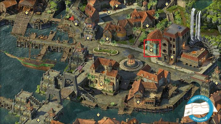 You can buy the spyglass from the merchant trading in the marked building. - Managing your ship and crew in Pillars of Eternity 2 - Traveling by ship - Pillars Of Eternity 2 Deadfire Game Guide