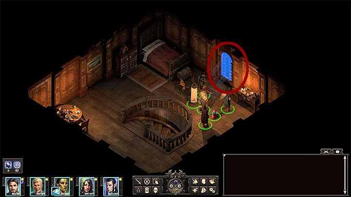 The final, third method is also the best hidden one and concerns attaching a rope on the upper floor of the Dark Cupboard (M15,4) - Arkemyrs Manor | Neketaka Island Walkthrough - Maps - Pillars Of Eternity 2 Deadfire Game Guide