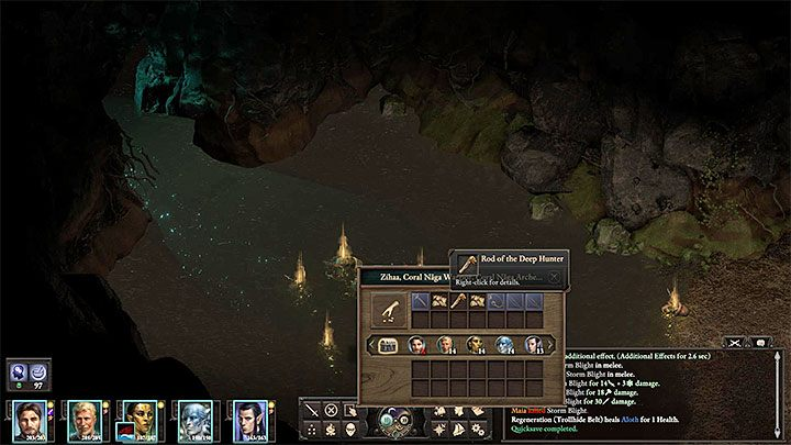 The stone door (M33,5) can be examined immediately - The Shadows Under Neketaka, side quest in Neketa Island | Walkthrough - Quests - Pillars Of Eternity 2 Deadfire Game Guide
