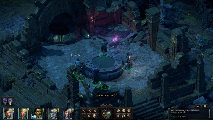 You will reach a stone disk, shown in the above screenshot - The Last Sanctuary - side quests | Motare o Kozi Island Walkthrough - Side quests - Pillars Of Eternity 2 Deadfire Game Guide
