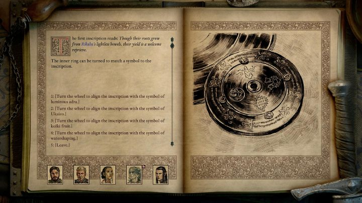 After acquiring the missing parts of the stone disk, you can start solving the puzzle - The Last Sanctuary - side quests | Motare o Kozi Island Walkthrough - Side quests - Pillars Of Eternity 2 Deadfire Game Guide