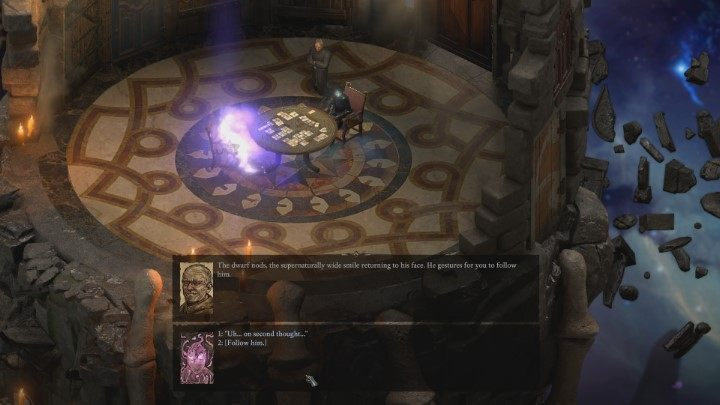 An important piece of information is that the conversation with Pallid Knight may not end well - Prologue | Island Maje | Walkthrough - Quests - Pillars Of Eternity 2 Deadfire Game Guide