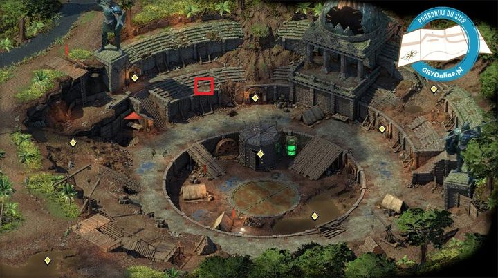 The cat, Gosha is in the area marked by the red square. - How to obtain your own pet in Pillars of Eternity 2? - FAQ - Pillars Of Eternity 2 Deadfire Game Guide