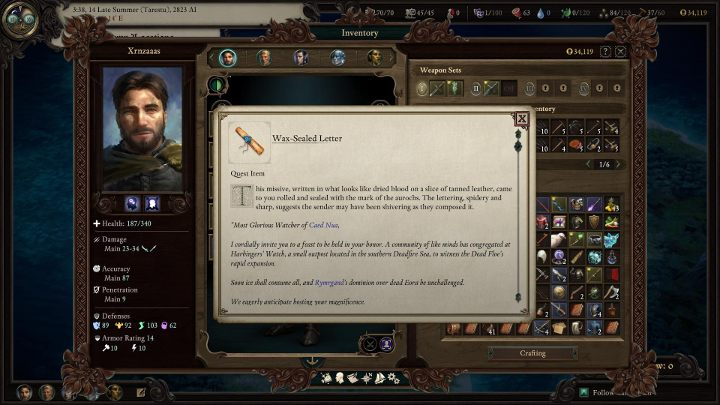 To start this expansion, you have to load your save done before you reached the end of the main storyline of Pillars of Eternity 2 Deadfire - How to start the Beast of Winter DLC for Pillars Of Eternity 2 Deadfire? - DLC Guide - Pillars Of Eternity 2 Deadfire Game Guide