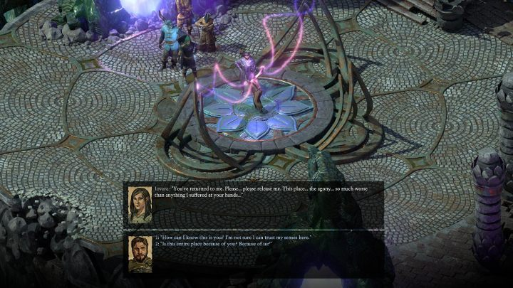 When you enter the location, talk to a woman in handcuffs - you will find out that she has been imprisoned here by an engwithan inquisitor - The Endless Queries | Main Quests in Pillars Of Eternity 2 Beast of Winter DLC - Main Quests - Pillars Of Eternity 2 Deadfire Game Guide