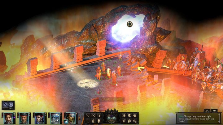 Return to the place where you just used the light beam, but this time use the portal shown in the screenshot above - The Bridge Ablaze | Main Quests in Pillars Of Eternity 2 Beast of Winter DLC - Main Quests - Pillars Of Eternity 2 Deadfire Game Guide