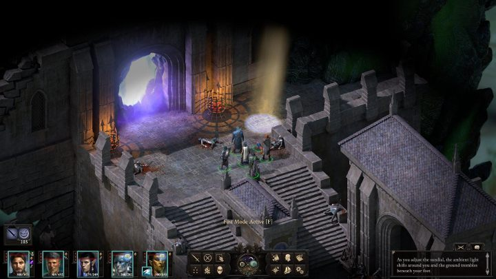 Once you have gained the third soul fragment, go to the nearby light and turn the sundial towards dusk - The Bridge Ablaze | Main Quests in Pillars Of Eternity 2 Beast of Winter DLC - Main Quests - Pillars Of Eternity 2 Deadfire Game Guide