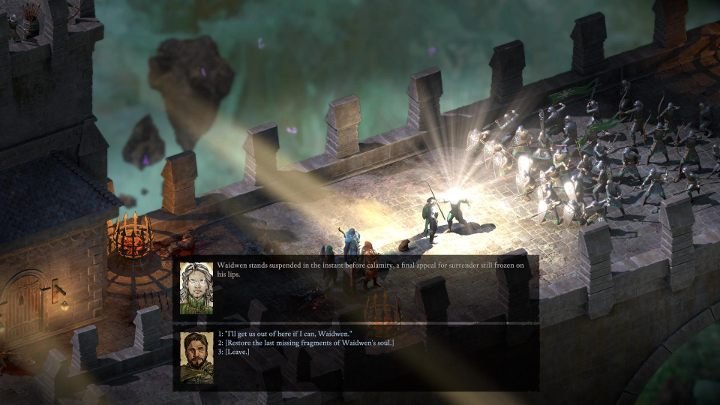After you have gained the last soul fragment, return to the light that transported you here and turn the clock towards dawn - The Bridge Ablaze | Main Quests in Pillars Of Eternity 2 Beast of Winter DLC - Main Quests - Pillars Of Eternity 2 Deadfire Game Guide