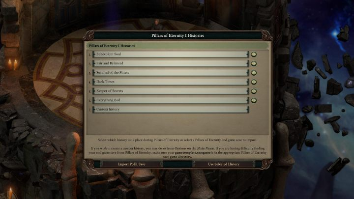 This window pops up after just a few minutes into the game. - How to import saves from the original Pillars of Eternity? - FAQ - Pillars Of Eternity 2 Deadfire Game Guide