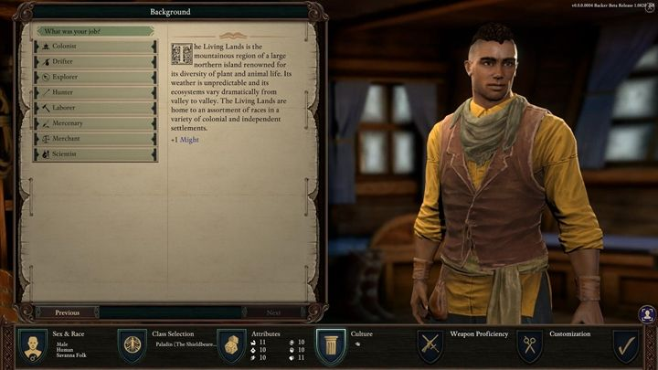 Background - Character background and occupation in Pillars of Eternity 2 - Character progression - Pillars Of Eternity 2 Deadfire Game Guide