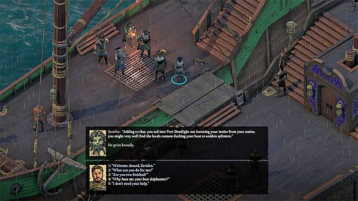 Serafen can join your party right after leaving the first island - How to quickly assemble the party in Pillars of Eternity 2? - FAQ - Pillars Of Eternity 2 Deadfire Game Guide