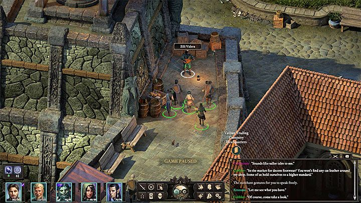 During your conversation with Ezzali Bardatto you can start this quest immediately or you can use Streetwise 4 and ask her to stand up for you within Vailian Trade Company (this improves your relation with that faction) in exchange for running an investigation - The conflict between Valera and Bardatto families side quests | Walkthrough - Quests - Pillars Of Eternity 2 Deadfire Game Guide