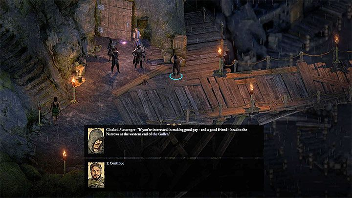 You will be able to begin this quest after spending some time in The Gullet - to be more exact, you have to increase your reputation there by completing other side quests - The Cornetts Call side quest | Neketaka Island Walkthrough - Quests - Pillars Of Eternity 2 Deadfire Game Guide
