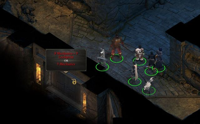 Thanks to high Mechanics, you can avoid crossing the entire temple. - Side quests in Dyrford Village - Dyrford Village and Crossing - Pillars of Eternity Game Guide & Walkthrough