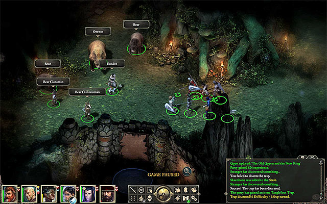 The area where Oernos the Bear appears - he appears at the Maw later on - Gods quests in Elms Reach - Twin Elms - Pillars of Eternity Game Guide & Walkthrough