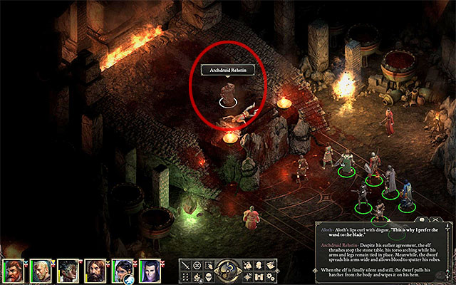 The Archdruid is the first one singled out by Berath - Gods quests in Elms Reach - Twin Elms - Pillars of Eternity Game Guide & Walkthrough