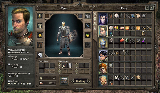 There are two ways to gain access to the crafting menu - Crafting | Basics - Basics - Pillars of Eternity Game Guide & Walkthrough