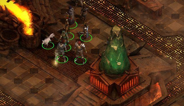 To forge the hammer, you need to use the large green crystal. - Lair of the Eyeless - main quest - The Abbey of the Fallen Moon - Pillars of Eternity Game Guide & Walkthrough