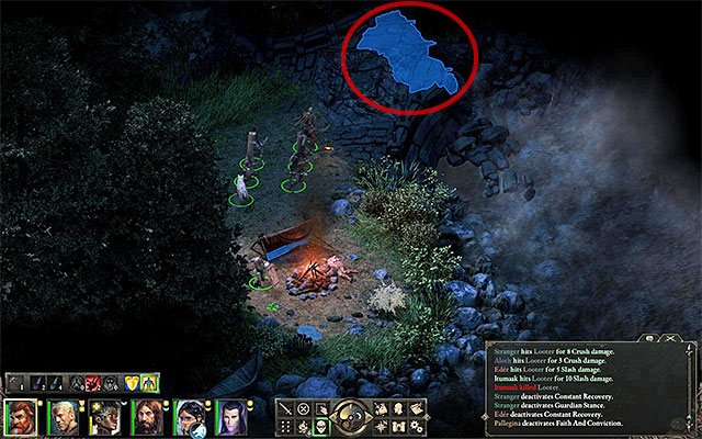 There is an alternative entrance to the ruins by the destroyed bridge - Through Deaths Gate - main quest - Defiance Bay - Pillars of Eternity Game Guide & Walkthrough