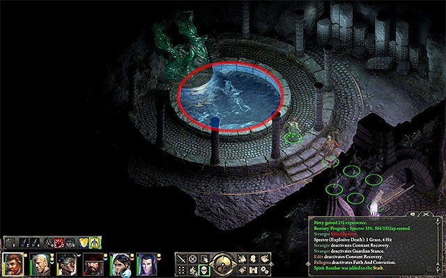 The spot where you find the Engwithan key - Through Deaths Gate - main quest - Defiance Bay - Pillars of Eternity Game Guide & Walkthrough