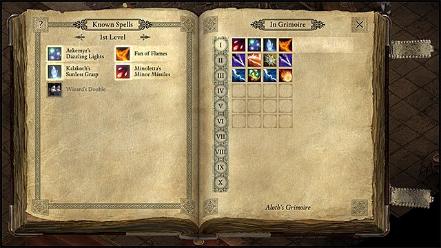 Pick spells to your Grimoire carefully as youre not able to change them during combat - Wizard | Character Classess - Character Classess - Pillars of Eternity Game Guide & Walkthrough