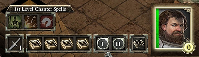 Keep attention to the amount of chanted phrases shown in the right lower corner of character icon - Chanter | Character Classess - Character Classess - Pillars of Eternity Game Guide & Walkthrough