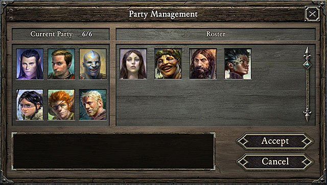 Party management window is available in two situations - Management | Stronghold - Stronghold - Pillars of Eternity Game Guide & Walkthrough