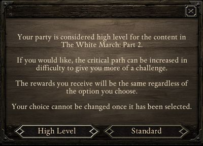 You can increase the difficulty level of future battles without having to change anything in the options menu. - Starting the adventure | The White March Part II - New Content in Pillars of Eternity: The White March Part II - Pillars of Eternity Game Guide & Walkthrough