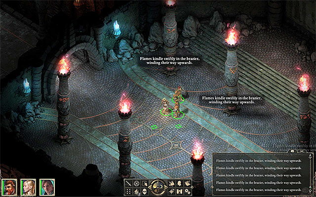 Kindle fires in six different spots - The Ruins of Cilant Lis - Main quest - Cilant Lis - Pillars of Eternity Game Guide & Walkthrough