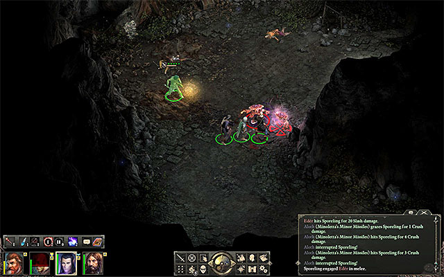 Kill the two sporelings at the sea cave in the Anslogs Compass - Side quests in Gilded Vale - Gilded Vale - Pillars of Eternity Game Guide & Walkthrough